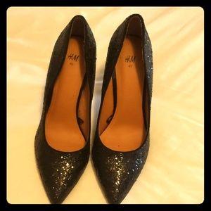 H&m black heels size 40 (size 9 US)